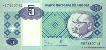 Billet actuel 5 kwansas
