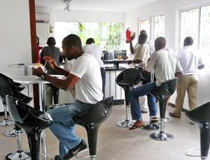 Caféteria de l'Alliance française de Luanda