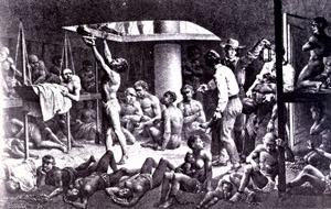 Esclaves dans un fond de cale du bateau ngrier en 1827