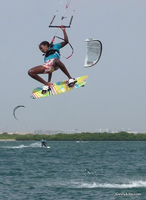 Kite surf a ilha