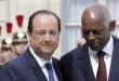 Président Hollande et le président Dos Santos en avril 2014 à Paris