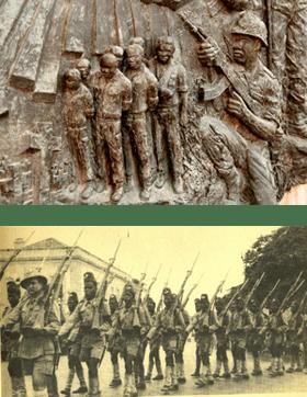 Sculture indpendance armée d'Angola pendant occupation