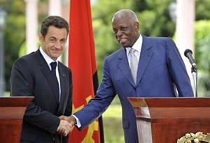 Visite de Nicolas Sarkozy en Angola le 23 mai 2008