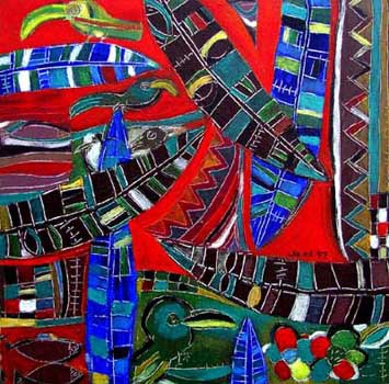 Peinture de Eria Sane Nsubuga