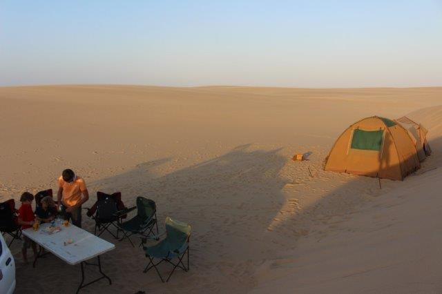 Namibe Camping desert