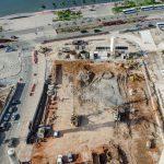 vue des travaux du Musee de la Monnaie Luanda