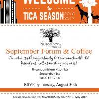 TICA's september forum