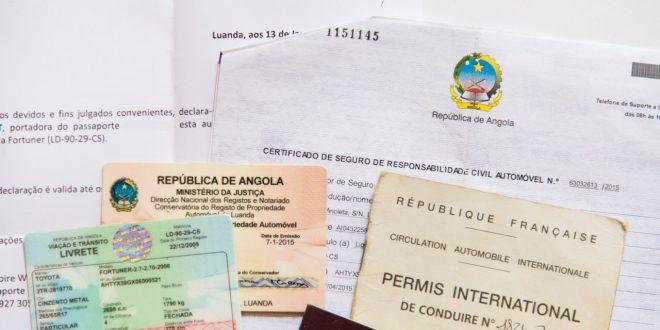 Papiers pour conduire un véhicule en Angola