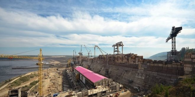 Barrage Caculo Cabaça en construction