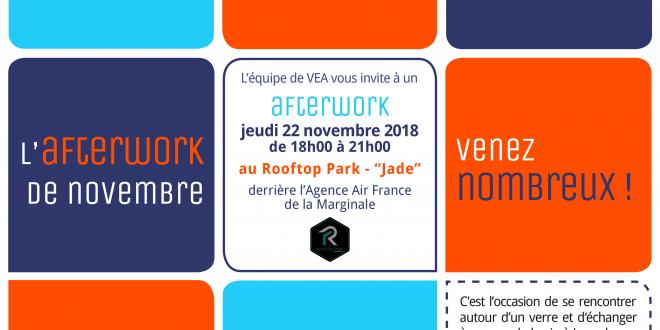 Afterwork VEA Rooftop Park Jade jeudi 22 novembre 2018