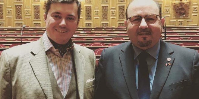 Avraham Ben-Haïm, conseiller consulaire en compagnie de Christophe André Frassa