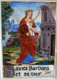 Sainte Barbe et sa tour