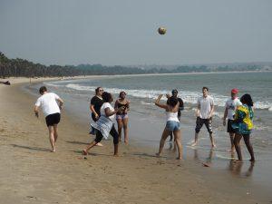 Beach volley à Barra do Dande
