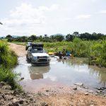 En chemin vers le spot des hippopotames